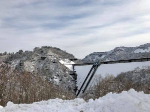 冬の奥只見ダム