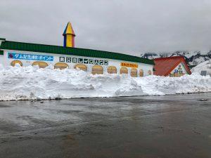 奥只見駐車場除雪